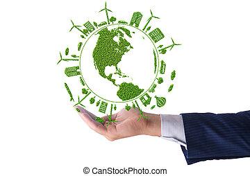 環境の保護, エネルギー, 概念, きれいにしなさい