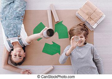 環境の保護, 子供, クラス, の間