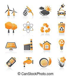 環境, エコロジー, アイコン