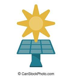 環境, エネルギー, シンボル, 太陽 パネル