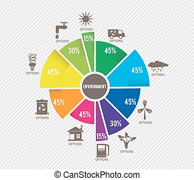 環境, テンプレート, infographics