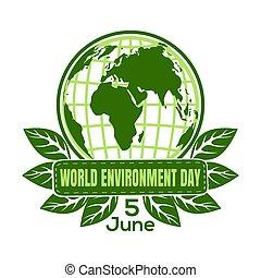 環境, 世界, デザイン, 日, ロゴ