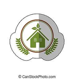 環境, 家, 符號, 圖像, 關心