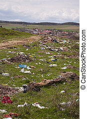 環境, 污染, -, 傾銷, 近, 村莊
