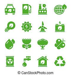 環境, 緑, アイコン