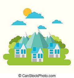 環境, 都市, エネルギー, エコロジー, 緑