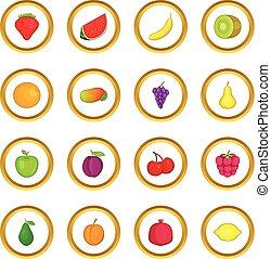 環繞, 水果, 圖象