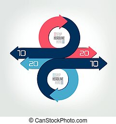 環繞, 輪, infographic, 箭