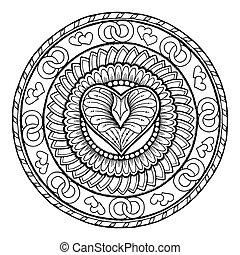 環繞, 部落, 心不在焉地亂寫亂畫, 裝飾品, 由于, 愛, heart.