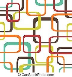 環繞, 顏色, 圖案, -, 矢量, retro, 背景, 正方形