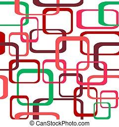 環繞, 顏色, 圖案, -, seamless, 矢量, retro, 背景, 正方形