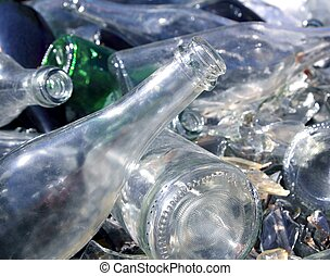 瓶子, 玻璃, 再循環, 土墩, 圖案