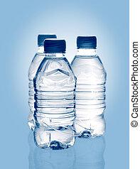 瓶子, 矿物, 春天水, 净化, 反映