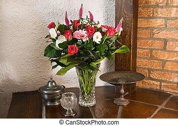 瓶, 第一流, stillife, 花