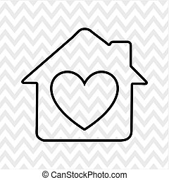 甘い, デザイン, 家