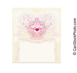 甘い, 愛, 招待, カード, 2, -, 鳥, 結婚式, 挨拶