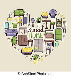 甘い, 概念, 家