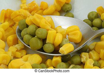 甘い, 緑のエンドウ豆