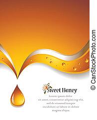甘い, 蜂蜜, backgound