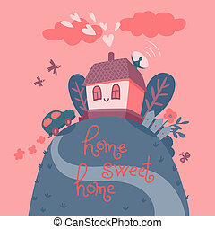 甘い, home., 家