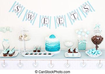 甜食, 桌子
