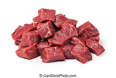 生の肉, 牛肉