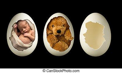 生まれたての赤ん坊, 卵
