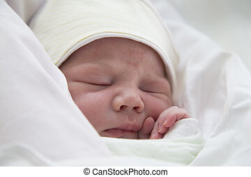 生まれたての赤ん坊, 男の子