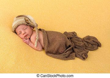 生まれたての赤ん坊, 眠い