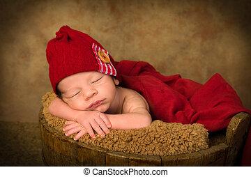 生まれたての赤ん坊, 骨董品, バケツ