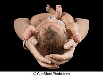 生まれたての赤ん坊, mother., 腕