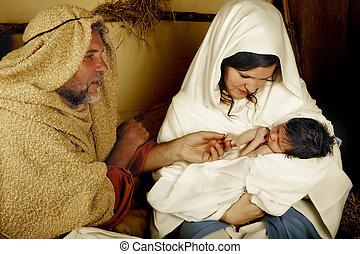 生まれる, クリスマス, 子供