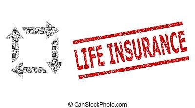 生命保険, recursion, 傷付けられる, 構成, 切手, リサイクルしなさい, 項目