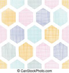 生地, カラフルである, パターン, 抽象的, seamless, 背景, textured, ハチの巣