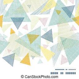 生地 パターン, 抽象的, seamless, ベクトル, 背景, 横, フレーム, 三角形