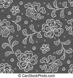 生地 パターン, 抽象的, seamless, flowers., レース