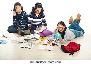 生徒, すること, 宿題