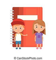 生徒, わずかしか, 子供, 恋人, ノート