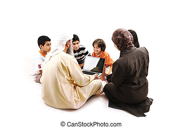 生徒, アラビア, muslim, 子供, 教師