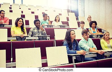生徒, インターナショナル, グループ, 講義