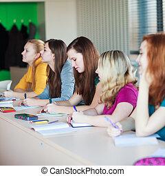 生徒, クラスで, (color, 強くされた, image)