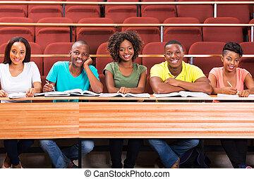 生徒, グループ, 若い, アフリカ