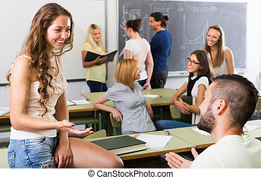 生徒, コミュニケーション, 中に, ∥, 教室