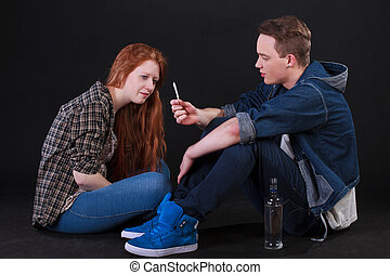 生徒, タバコ, 飲むこと, アルコール, 喫煙
