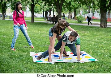 生徒, プレーしなさい, より手, ゲーム