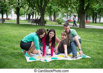 生徒, プレーしなさい, より手, 公園, ゲーム