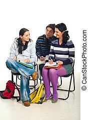 生徒, 会話, 中に, 教室
