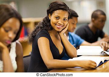 生徒, 勉強, 大学, アフリカ