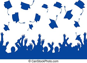 生徒, 卒業日, 背景, 幸せ