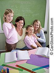 生徒, 教室, 教師